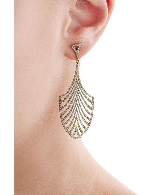 Ileana Makri | Metallic 18-karat Gold And Diamond Escape Earrings | Lyst