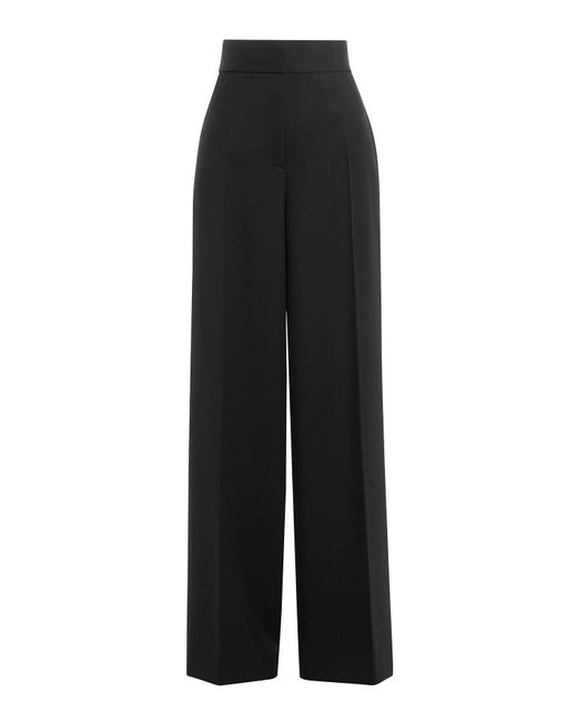Jil Sander - Black Wool High-waisted Trousers - Lyst
