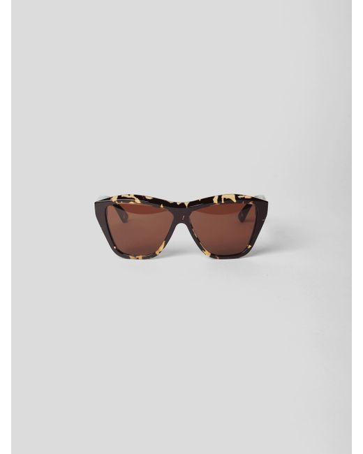 Bottega Veneta Brown Sonnenbrille im Cat-Eye-Stil