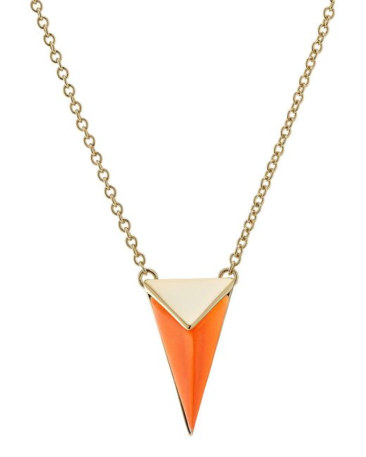 Alexis Bittar - Metallic Gold-plated Necklace With Lucite - Lyst