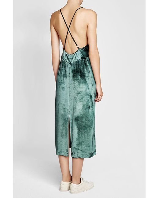 Lyst - J Brand Velvet Gown With Silk in Green - Save 72%