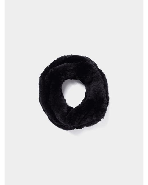 Yves Salomon Black Loop-Schal aus Fell