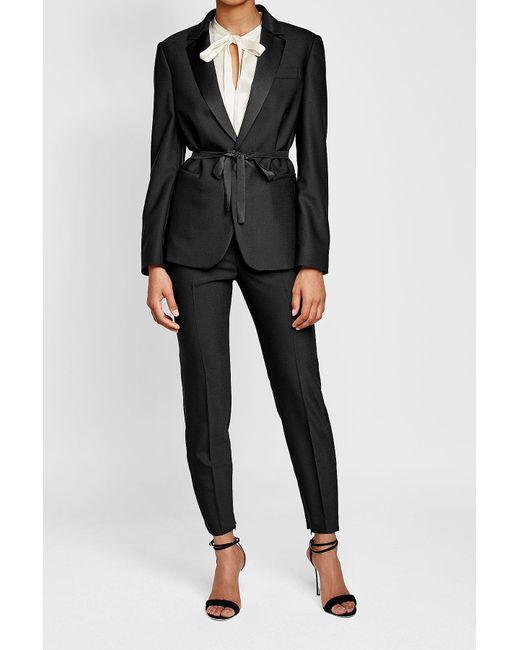 RED Valentino | Black Tie-waist Wool Blazer | Lyst