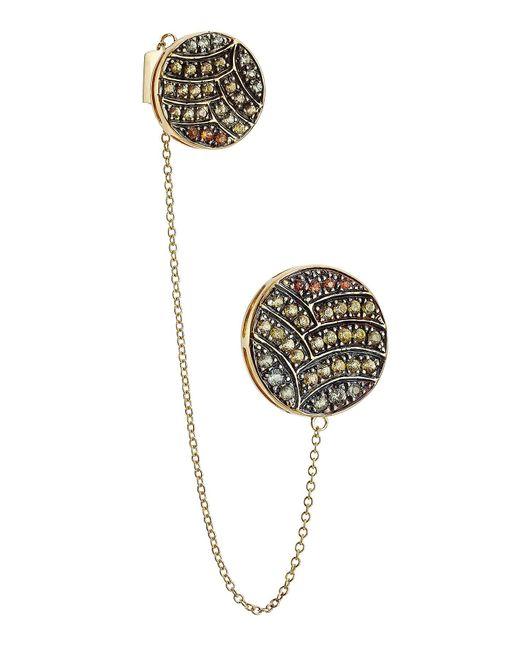 Ileana Makri - Metallic 18-karat Gold And Sapphire Ear Cuff - Lyst