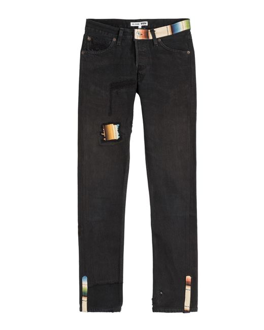 Re/done - Multicolor Straight Skinny Jeans - Lyst