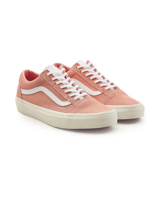 lyst vans old skool suede trainers with leather in pink. Black Bedroom Furniture Sets. Home Design Ideas