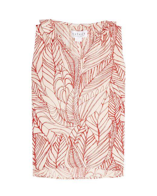 Velvet   Pink Printed Sleeveless Blouse   Lyst