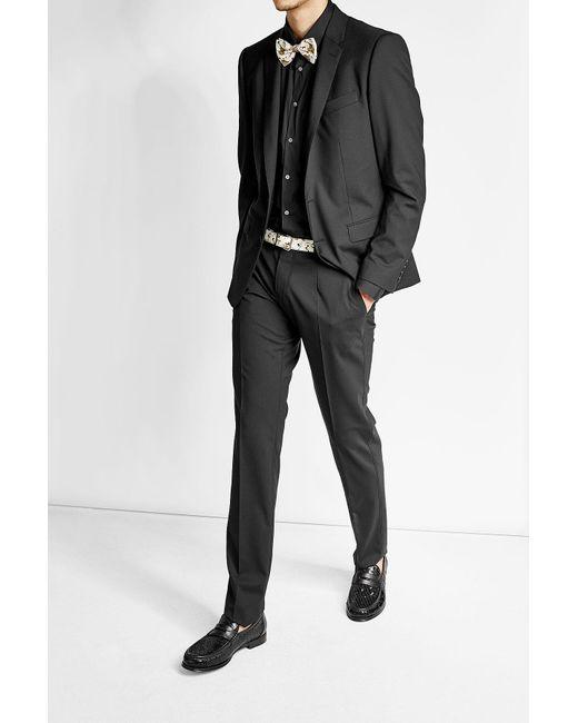 Dolce & Gabbana | Black Sequin Loafers for Men | Lyst