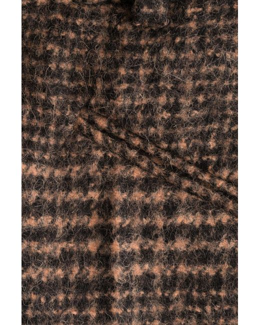 sonia rykiel alpaca wool glen plaid trousers in brown save 46 lyst. Black Bedroom Furniture Sets. Home Design Ideas