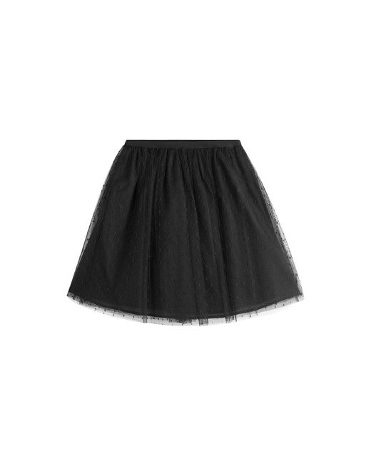 RED Valentino - Black Dotted Tulle Mini-skirt - Lyst