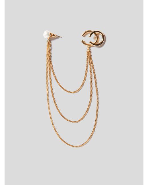 Magda Butrym Metallic Pearl Cuff Ohrring