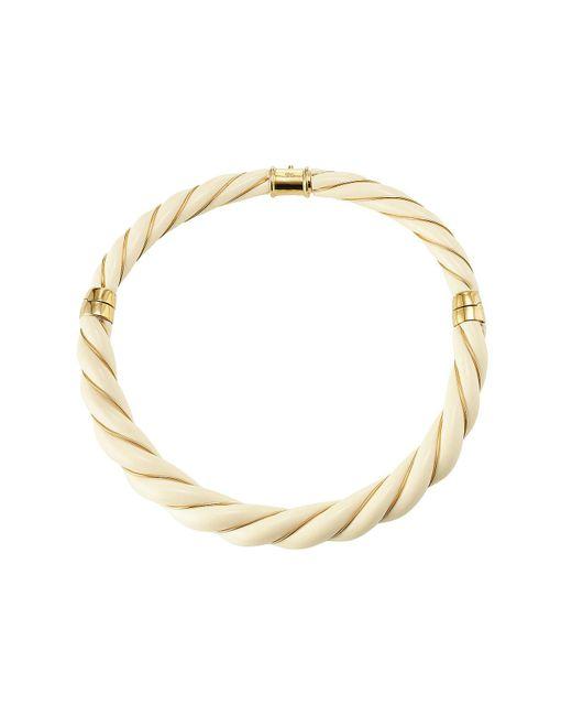 Aurelie Bidermann - White Twisted Necklace - Lyst