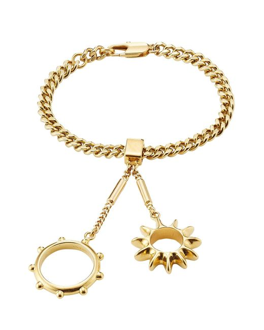 Chloé | Metallic Bracelet With Rings Attached | Lyst