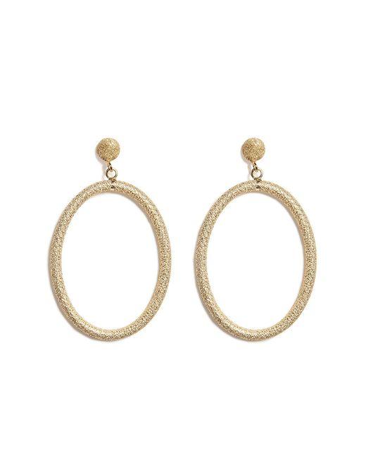 Carolina Bucci - Metallic 18k Gold Gitane Sparkly Oval Earrings - Lyst