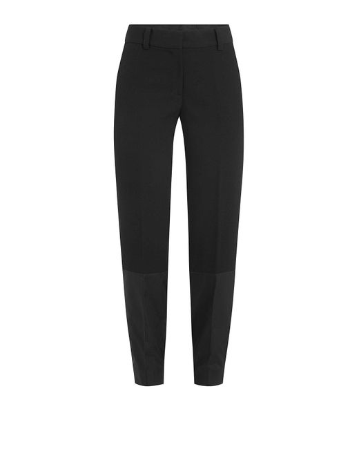 DKNY - Black Patchwork Pants With Fitted Cuffs - Lyst
