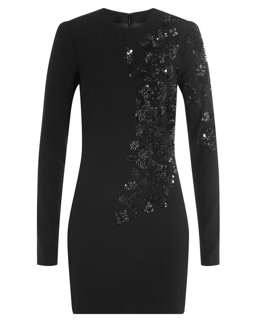 DSquared² - Black Sequin Embellished Dress With Virgin Wool - Lyst
