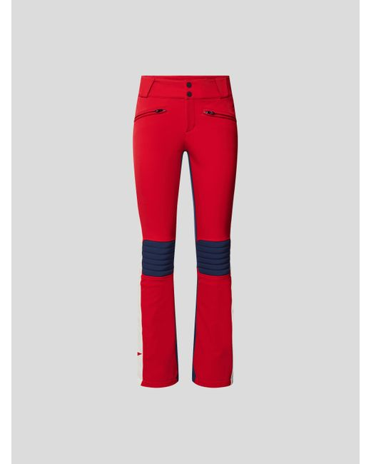 Perfect Moment Red Skihose mit Label-Details