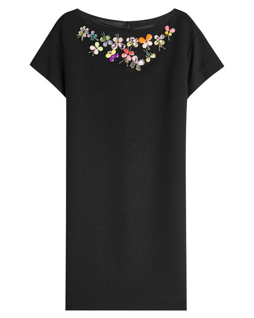 Boutique Moschino - Black Embellished Dress - Lyst