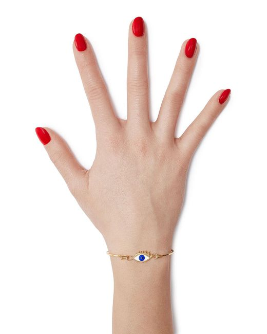 Delfina Delettrez | Metallic 9kt Gold-plated Silver Grandma Eye Bracelet | Lyst