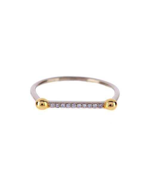 Luv Aj | Metallic Single Barbell Ring In Silver | Lyst