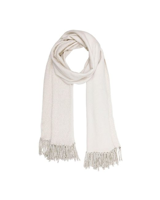 Donni Charm - Natural Poodle Scarf In Cream - Lyst