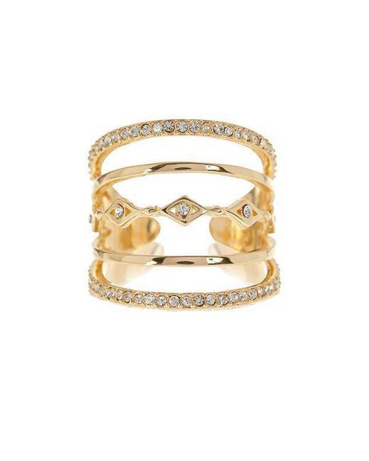 Luv Aj - Metallic Evil Eye Stacked Ring In Gold - Lyst
