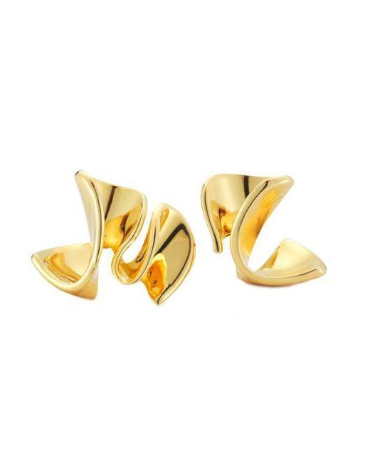 Elizabeth and James - Metallic Arp Earrings - Lyst