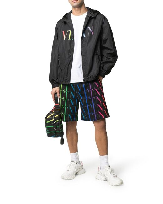 Valentino Multicolor Vltn Times Bermuda Shorts for men