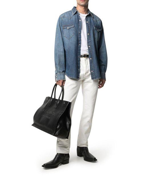 Jeans dritti a vita media di Tom Ford in Multicolor da Uomo