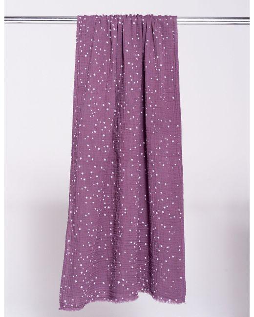 Sundry - Purple Stars Gauze Scarf - Lyst