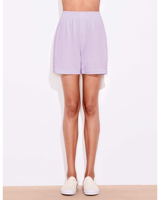 Sundry Purple Boyfriend Shorts