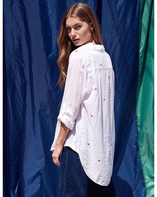 49024401734 ... Sundry - White Hearts And Stars Oversized Shirt - Lyst ...