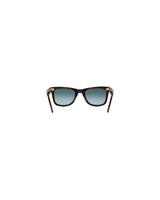 lyst ray ban rb2140 50 original wayfarer in gray for men Ray-Ban Sunglasses 2132 ray ban gray rb2140 50 original wayfarer for men lyst