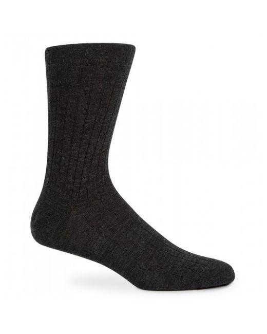 Sunspel | Black Men's Merino Cotton Socks In Charcoal Melange for Men | Lyst