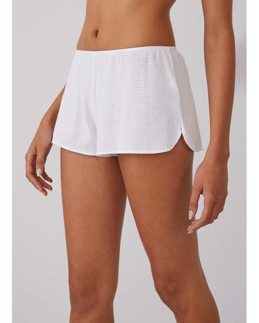 Sunspel - Women's Cellular Cotton French Knickers In White - Lyst