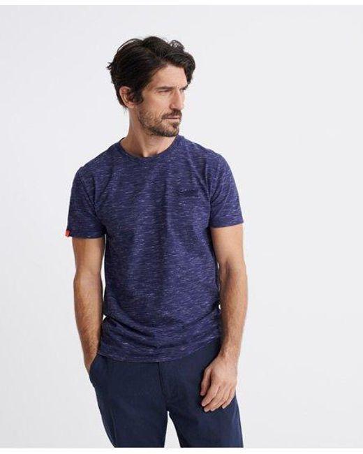Superdry Blue Orange Label Vintage Embroidered T-shirt for men
