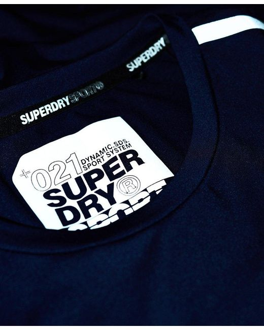 brand new 7bff4 707a1 Superdry Active Graphic T-shirt in Blue for Men - Save 31 ...