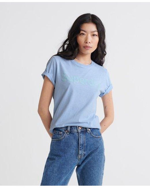 Superdry Blue Flock T-shirt