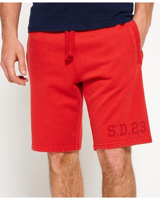 Superdry | Red Heritage Wash Shorts for Men | Lyst