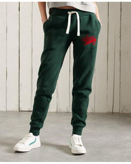 Superdry Green Collegiate Scripted Joggers