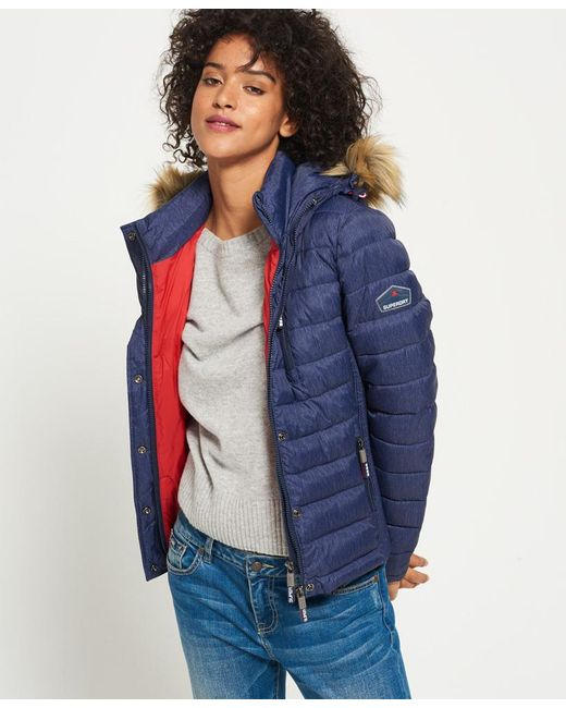 Superdry - Blue Fuji Slim Double Zip Hooded Jacket - Lyst