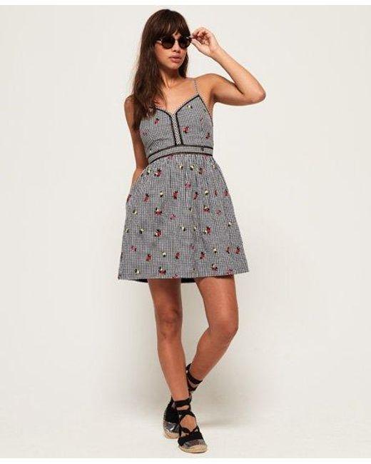 Superdry Black Jessie V-neck Cami Dress