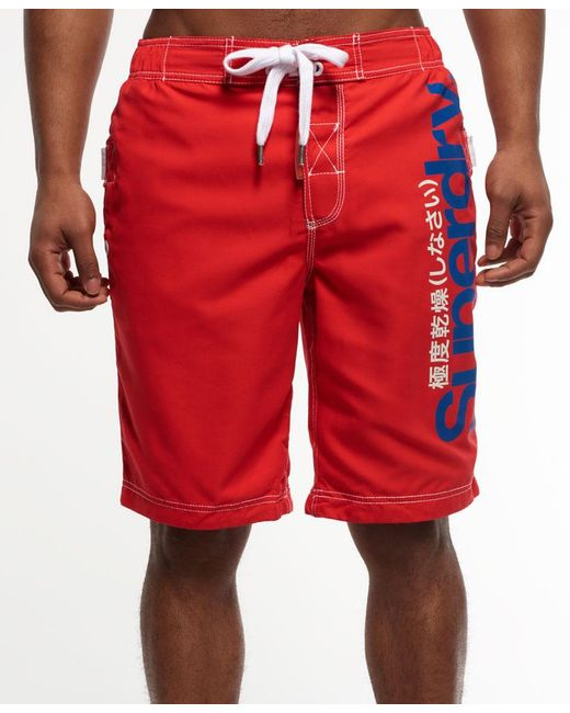 Superdry | Red Boardshorts for Men | Lyst