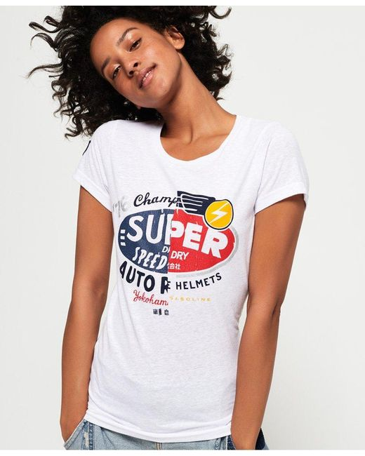 Superdry White Gasoline Slice T-shirt