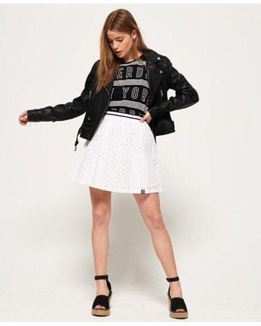 Superdry White Camylla Skirt