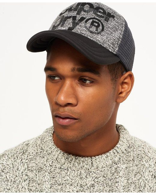 4361a3cc Superdry Lineman Cap in Gray for Men - Save 47% - Lyst