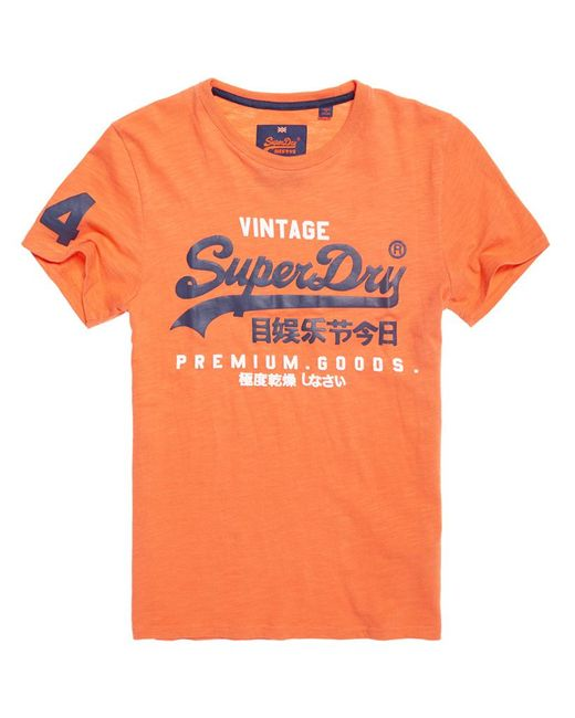 Superdry - Orange Premium Goods Duo T-shirt for Men - Lyst