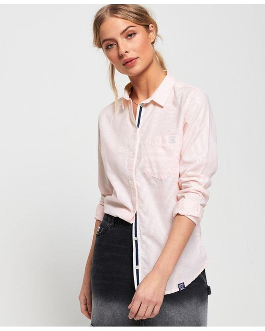 Superdry Pink Oxford Stripe Shirt