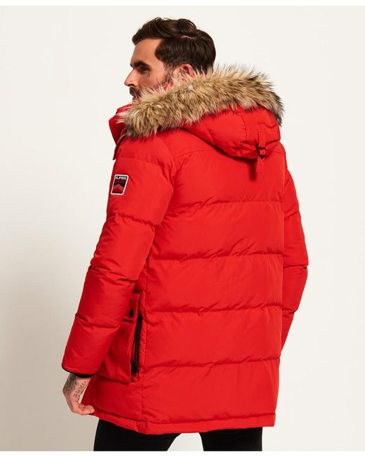 Lyst Superdry Sd Expedition Parka Jacket In Red For Men