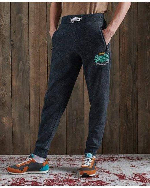 Superdry Blue Vintage Logo Tri Sweatpants for men